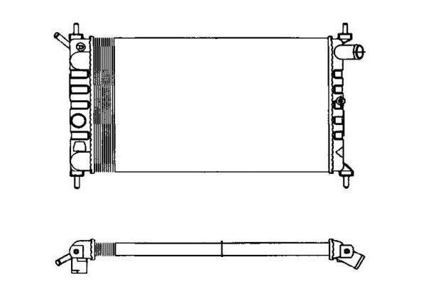 Hladilnik vode 550708-0 - Opel Astra 91-02