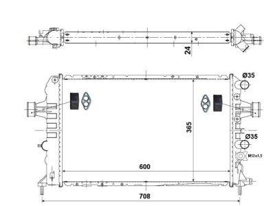 Hladilnik vode 550808-0 - Opel Astra 98-09