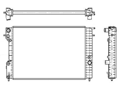 Hladilnik vode 552708-3 - Opel Omega B 94-03