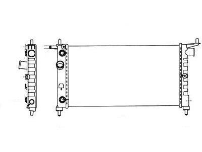 Hladilnik vode 555508-8 - Opel Corsa B 93-00