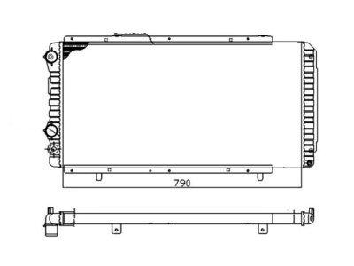 Hladilnik vode 570208-2 - Fiat Ducato 94-02