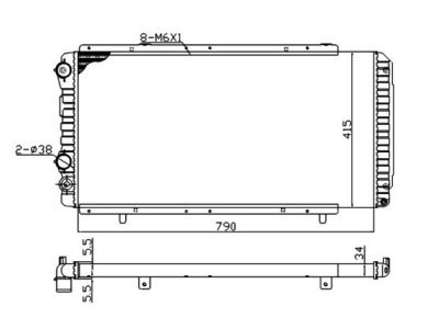 Hladilnik vode 570208A2 - Citroen Jumper 94-02