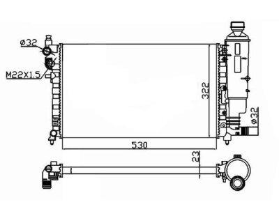 Hladilnik vode 570608-7 - Peugeot 106 00-