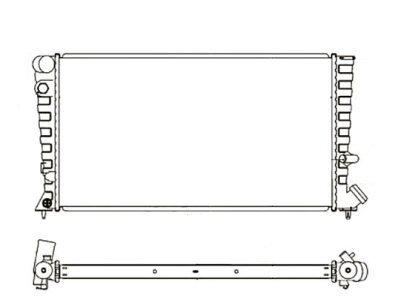 Hladilnik vode 570808A2 - Citroen Xsara 97-00