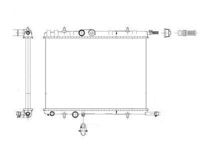 Hladilnik vode 571008-6 - Peugeot 307 01-08
