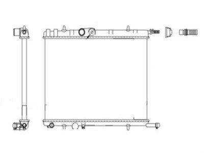 Hladilnik vode 572308-4 - Peugeot 206 98-12