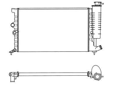 Hladilnik vode 5746081X - Peugeot 406 95-99 (OEM)
