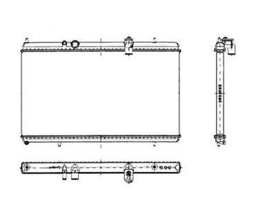 Hladilnik vode 574808-4 - Citroen C5 00-