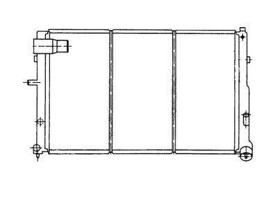 Hladilnik vode 576508A7 - Citroen XM 89-