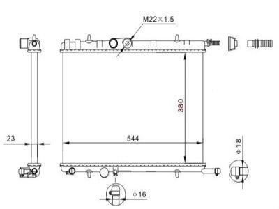 Hladilnik vode 579008A2 - Peugeot 307 01-08