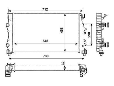 Hladilnik vode 6050083X - Renault Espace 96-00 (OEM)