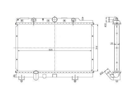 Hladilnik vode 632008-2 - Rover 200 95-00