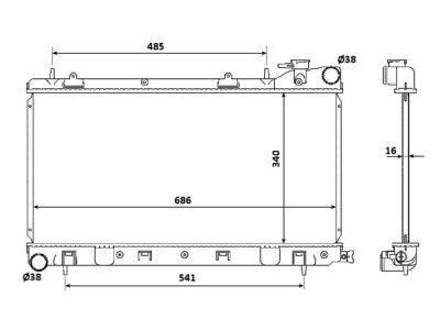 Hladilnik vode 721108-1 - Subaru Impreza 98-00