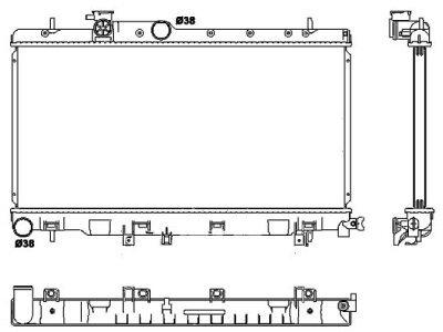Hladilnik vode 721208-3 - Subaru Impreza 00-06