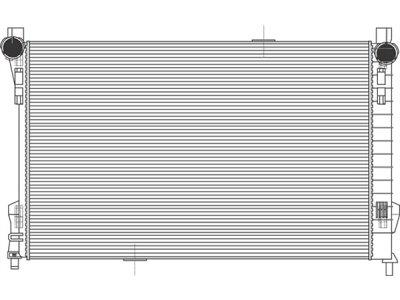 Hladilnik vode Mercedes C W203 00-