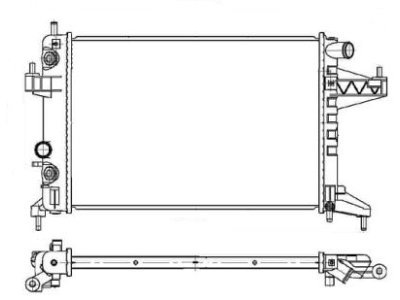 Hladilnik vode Opel Corsa 00-06
