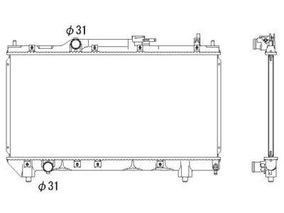 Hladilnik vode Toyota Avensis 98-00 1.6/1.8