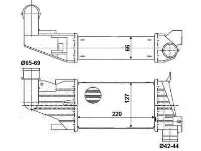 Hladilnik zraka Opel Astra H 04-08 1.7 CDTi