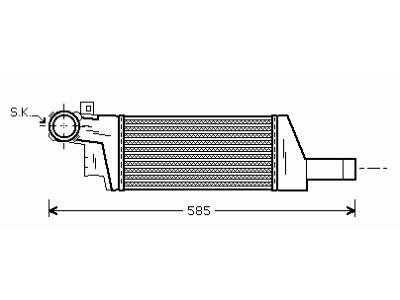 Hladilnik zraka Opel Corsa C 00- 1.3/1.7 CDTi