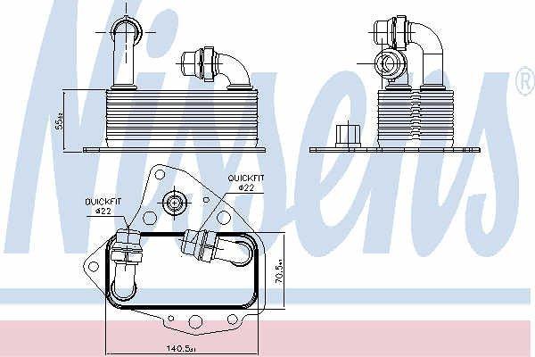 Hladnjak ulja 90803 - Suzuki SX4 06-