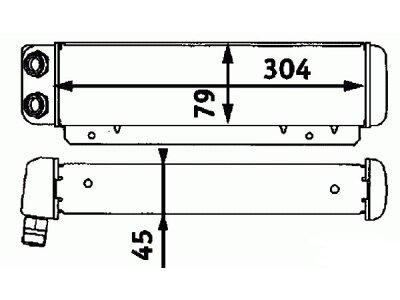 Hladnjak ulja Mercedes 190 (W201) 82-93