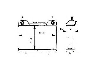 Hladnjak ulja Mercedes E (W124) 84-96, 1245000000