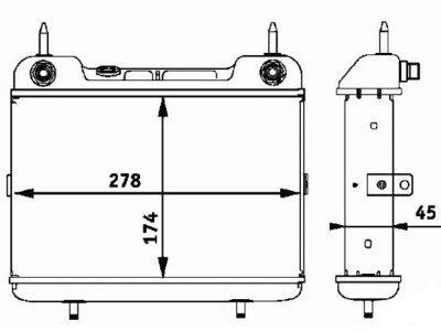 Hladnjak ulja Mercedes E (W124) 84-96, 1245013601 (samo po porudžbini)