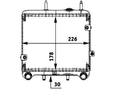 Hladnjak ulja Mercedes S (W140) 91-98, 1405000400