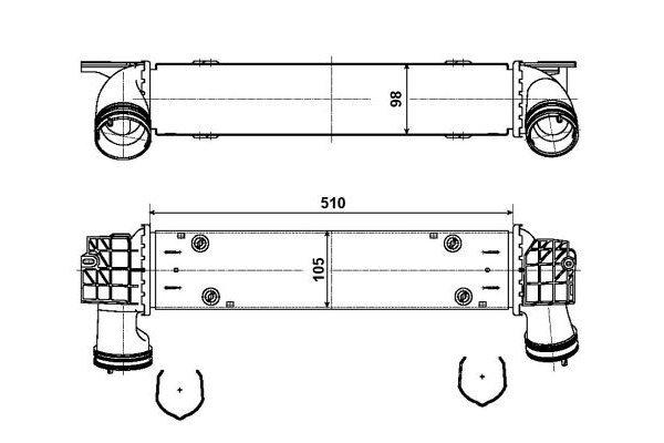 Hladnjak vazduha 2001J8-3         - BMW Serije 3 04-13