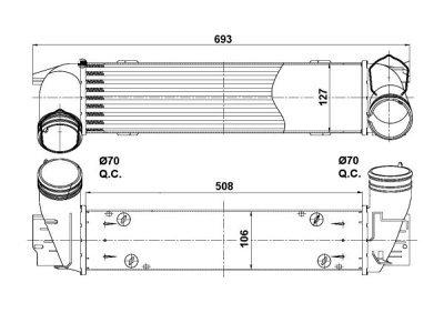 Hladnjak vazduha 2001J8-5  - BMW Serije 3 04-13