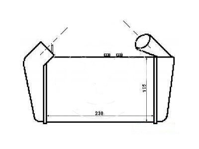 Hladnjak vazduha Audi 80 86-91
