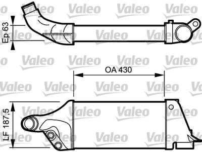 Hladnjak vazduha Audi 80 93-95