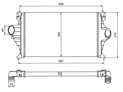 Hladnjak vazduha Citroen Xantia 93- 580x360