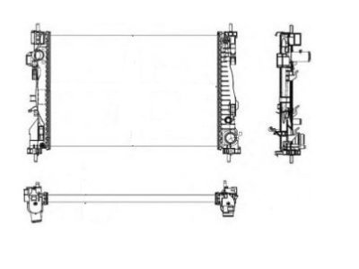 Hladnjak vode 142108A3 Alfa Romeo Giulietta 10-, benzin