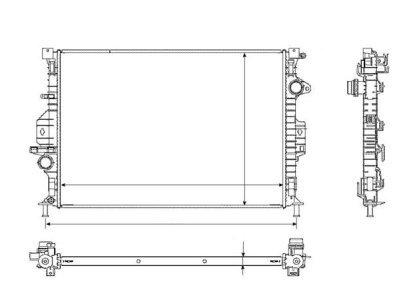 Hladnjak vode 3219085K - FORD C-MAX 11-