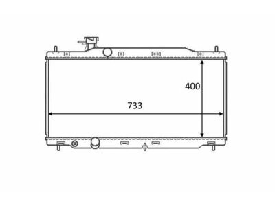 Hladnjak vode 387808-1 - Honda CRV 07-12
