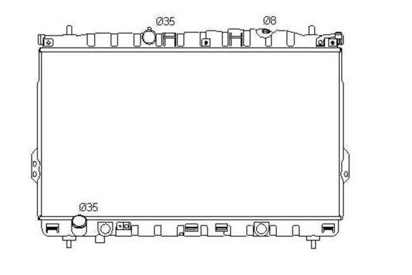 Hladnjak vode 4075081X - Hyundai Trajet 00-08