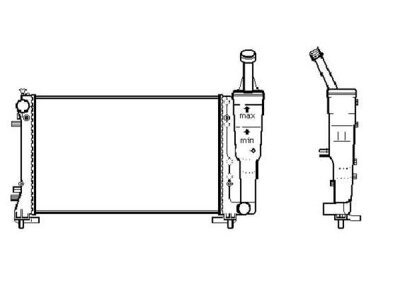 Hladnjak vode 4202088X - LANCIA MUSA (350), OEM, 04-12