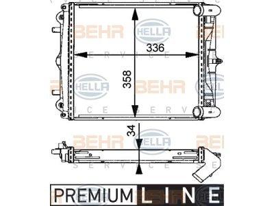 Hladnjak vode 5813081X - Porsche Boxster 96-04