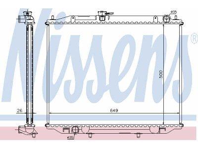 Hladnjak vode 68708A - Ford Maverick 93-98
