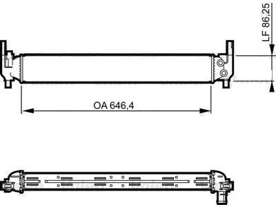 Hladnjak vode 691608-1 - Volkswagen Polo 09-17