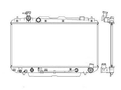 Hladnjak vode 814608-2 - Toyota Rav4 00-06