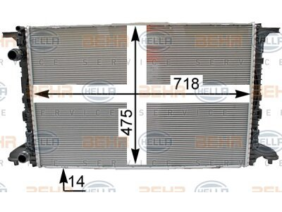 Hladnjak vode 8MK 376 990-001 - Audi A4 15-