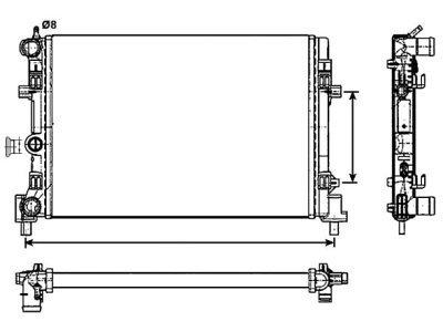 Hladnjak vode Audi A1 (8x), dizel, 10-