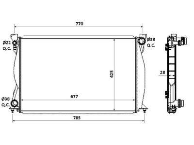 Hladnjak vode Audi A6 V6 TDI 04-