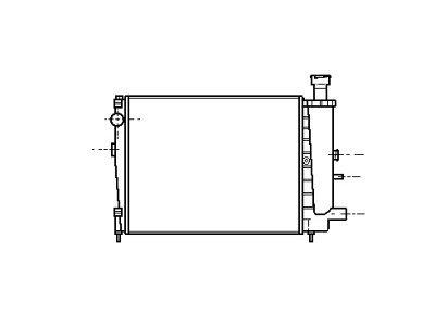 Hladnjak vode Citroen AX 86-91 390x308