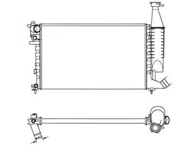 Hladnjak vode Citroen Berlingo 98-02 610 x 378