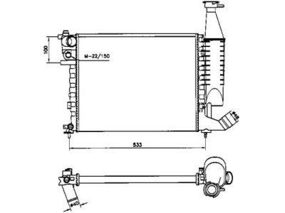 Hladnjak vode Citroen Berlingo 98-02