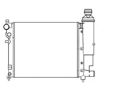 Hladnjak vode Citroen Saxo 95-01 bez klime