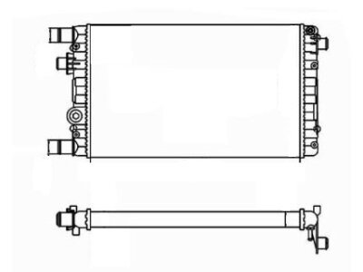 Hladnjak vode Fiat Cinquecento 00-02